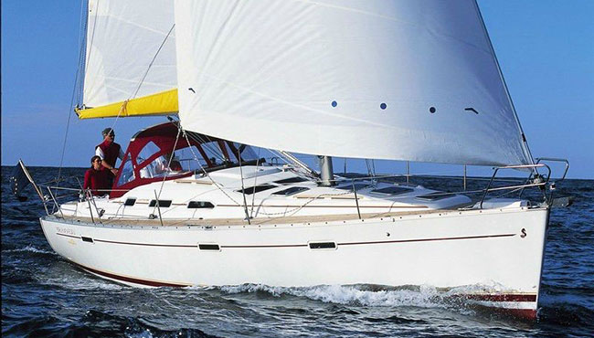 Oceanis 393 Sailing in Greece yacht charter Ionian islands Odysseus