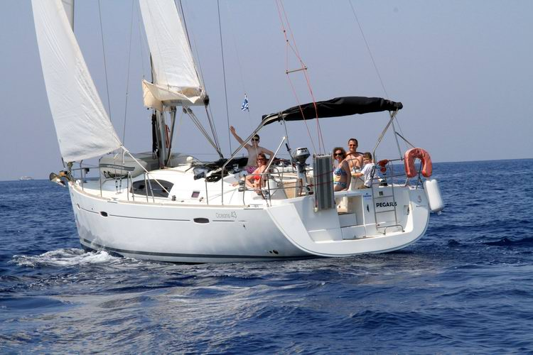 Oceanis 43 Sailing in Greece yacht charter Ionian islands Odysseus