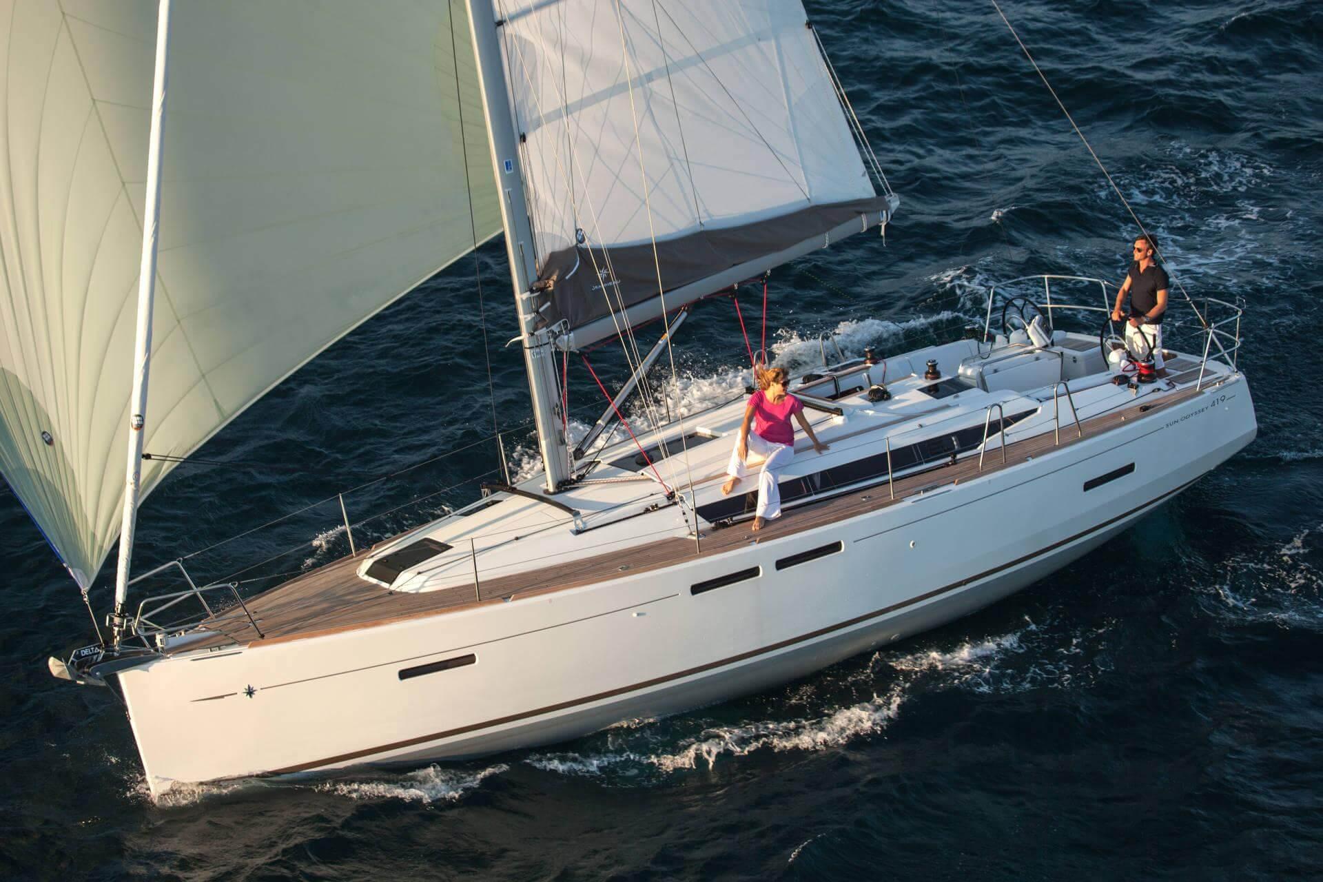 Sun odyssey 419 Sailing in Greece yacht charter Ionian islands Odysseus