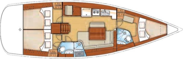 Oceanis 43 Layout Odysseus Yachting Greece