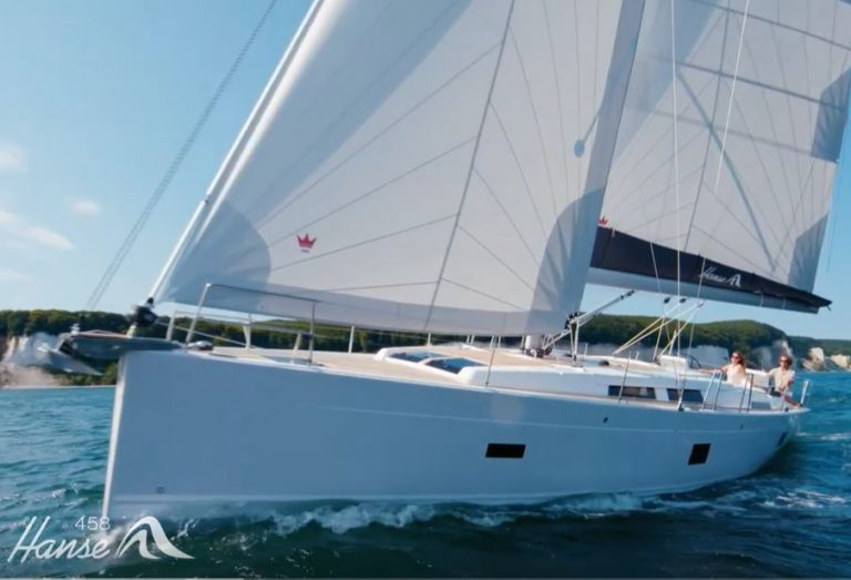 Hanse 458 Sailing in Greece yacht charter Ionian islands Odysseus